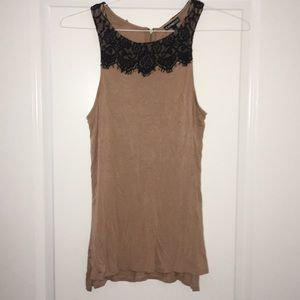 Express Sleeveless Lace-trimmed Blouse